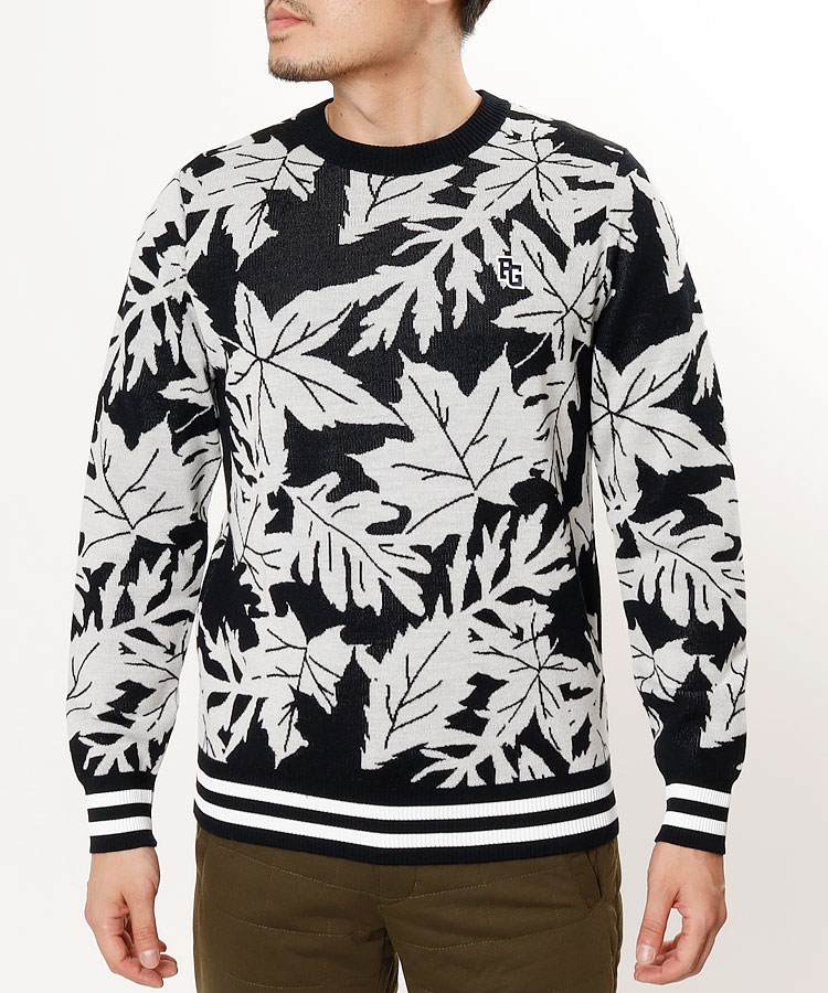 【3000円クーポン付き】PG リーフジャガードセーター