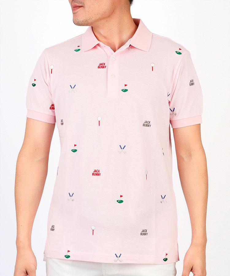 JB ゴルフモチーフ刺しゅう◆ポロシャツ