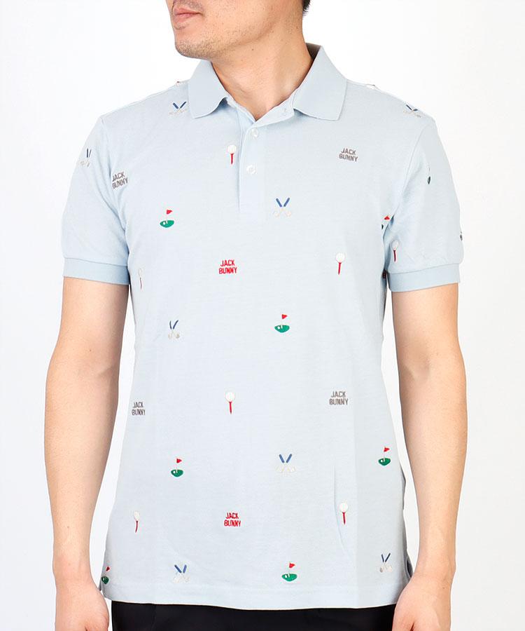 【2000円クーポン付き】JB ゴルフモチーフ刺しゅう◆ポロシャツ