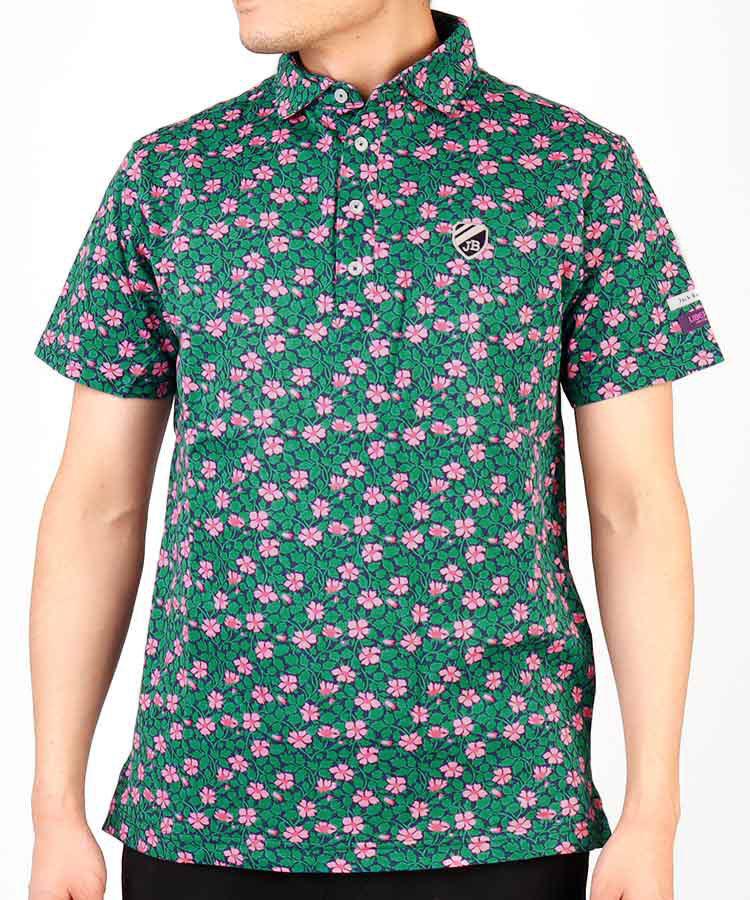 【2000円クーポン付き】JB リバティプリント◆鹿の子ポロシャツ