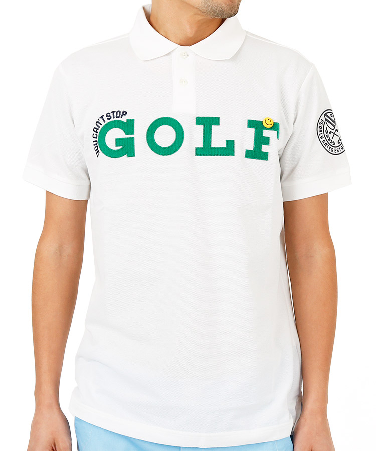 PG マジックテープGolfロゴ◆ポロシャツ