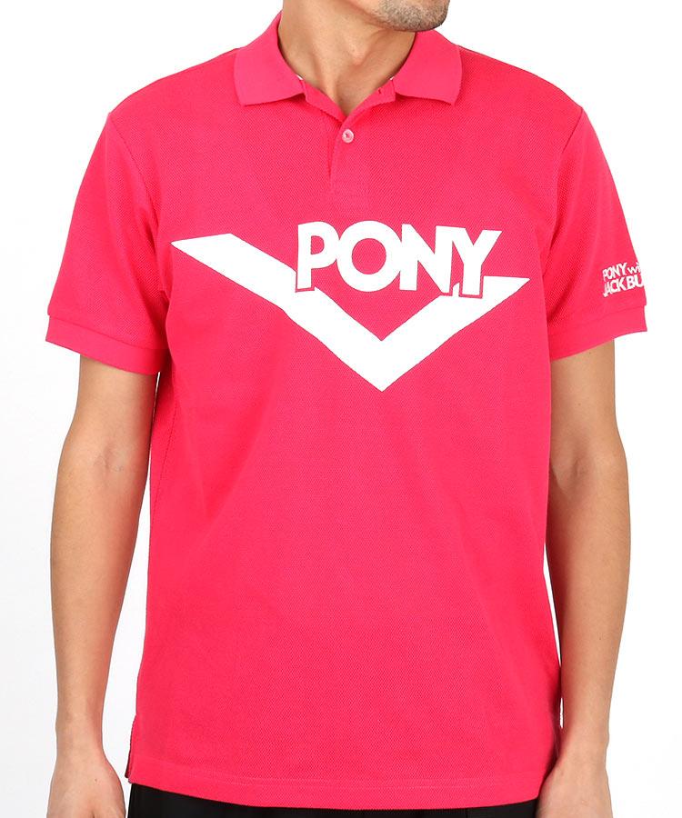 JB 【Pony×Jackbunny】ビッグ「PONY」ロゴポロシャツ