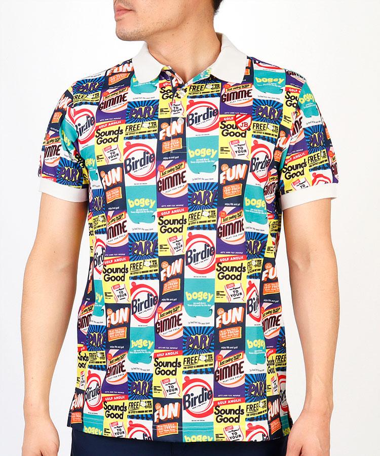 JB Americanパッケージ柄ポロシャツ