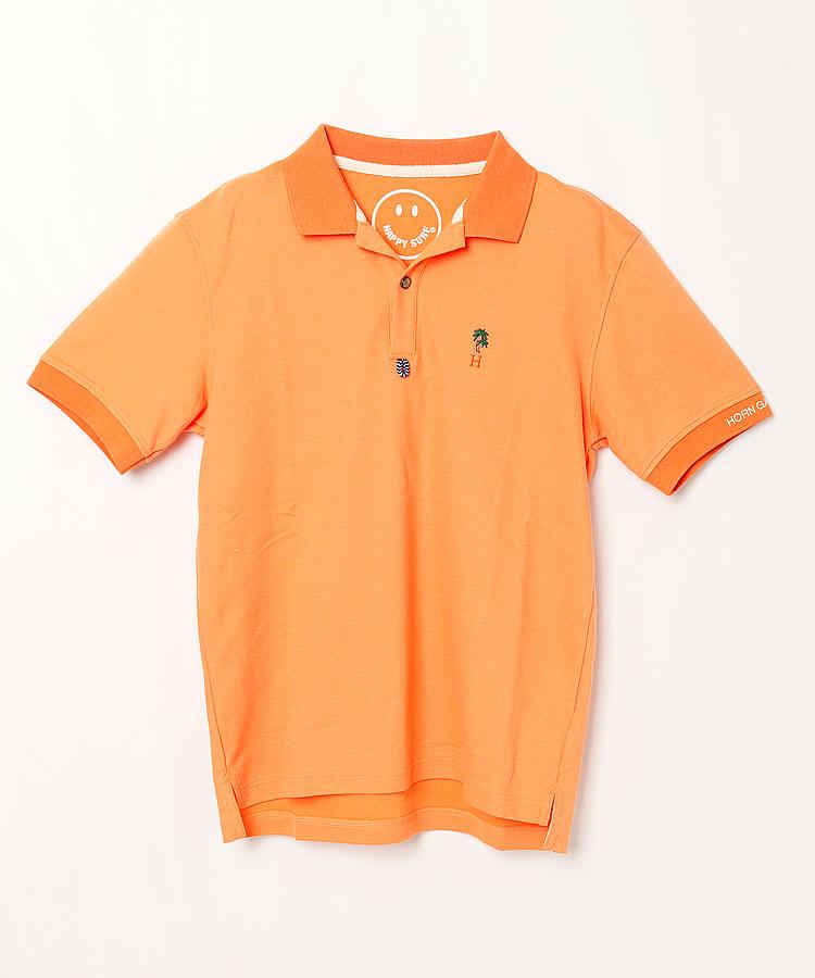 HO ヤシの木刺しゅうポロシャツ