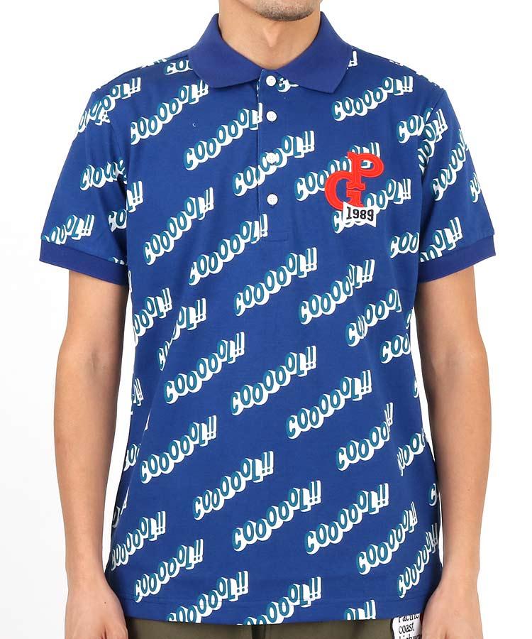 PG 「Coooool」ロゴプリントポロシャツ