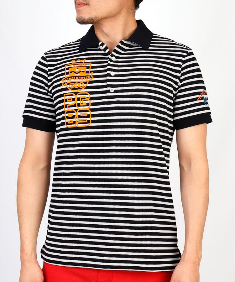 PG 鹿の子ボーダーポロシャツ