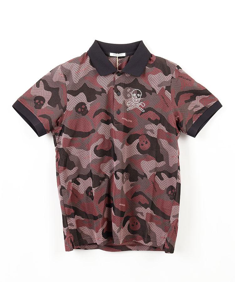 ML ジャガードSKULLカモフラポロシャツ
