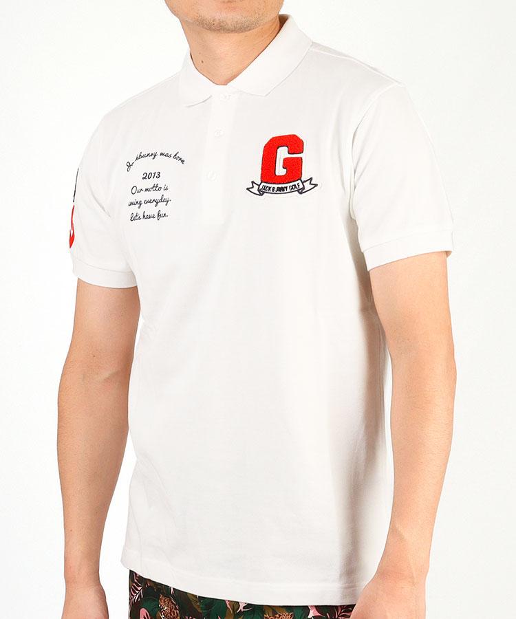 JB ワッペン付きポロシャツ