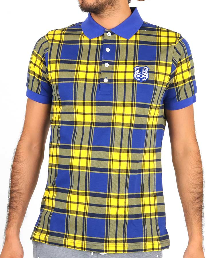 PG マドラスチェック柄ポロシャツ