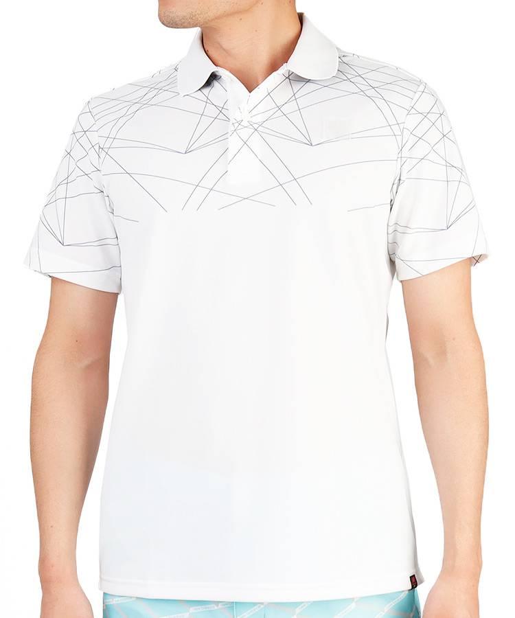 NB ラインプリントポロシャツ