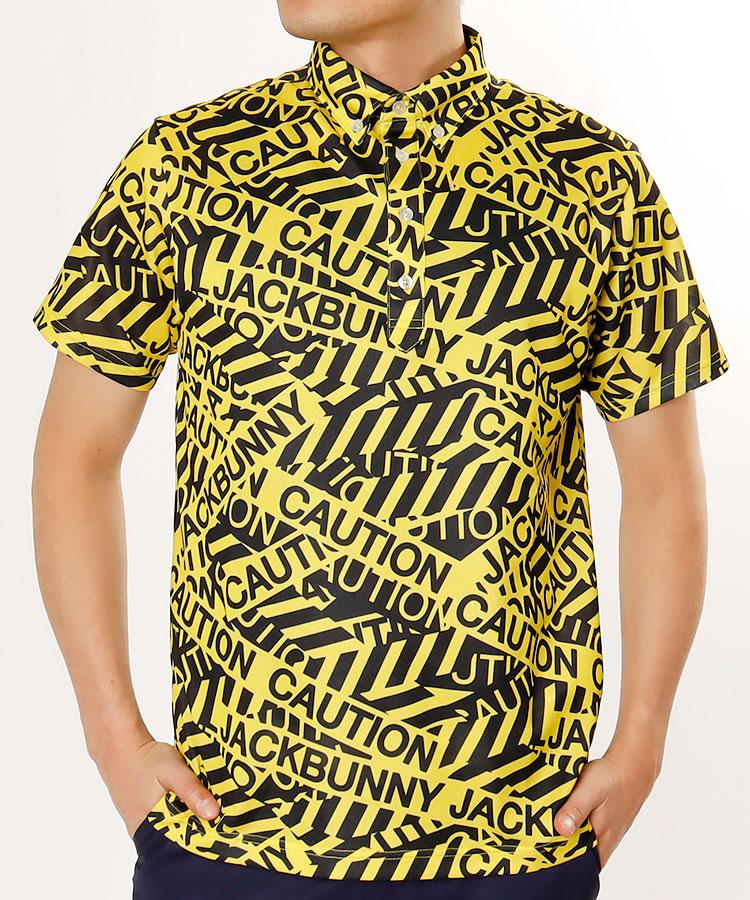 JB CAUTIONロゴポロシャツ