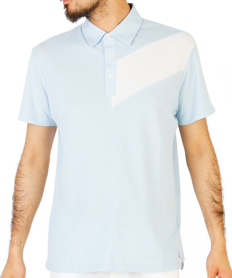 JR ライン切り返し半袖ポロシャツ
