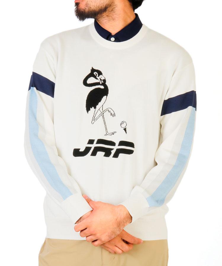 JR フラミンゴ柄インターシャプルオーバー