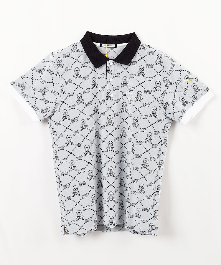 ML クロススカル◆パイル地ポロシャツ