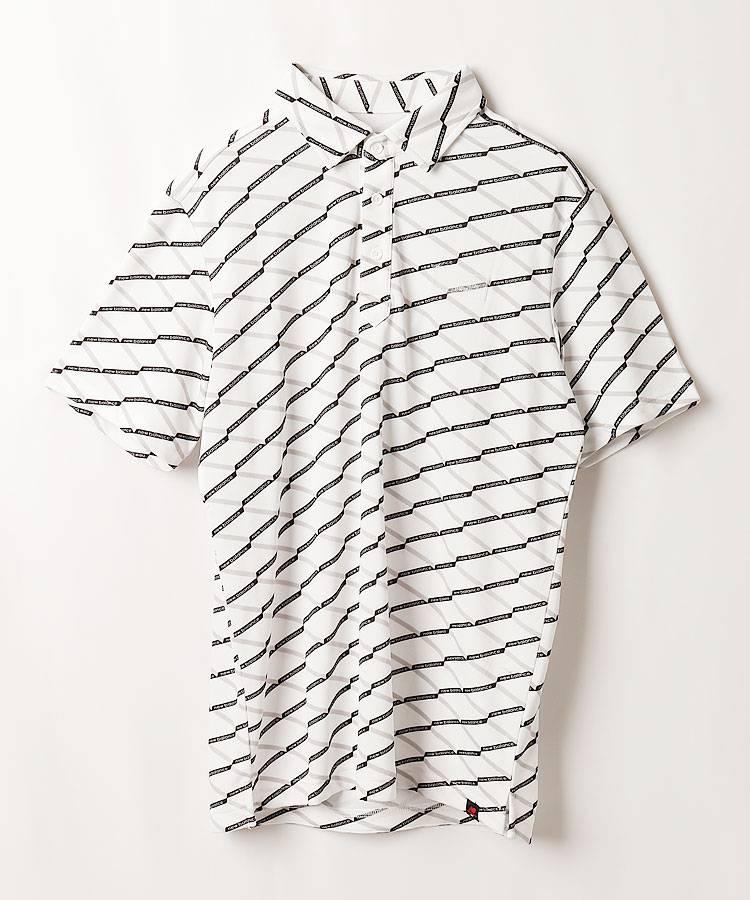 NB クロスライン柄ポロシャツ
