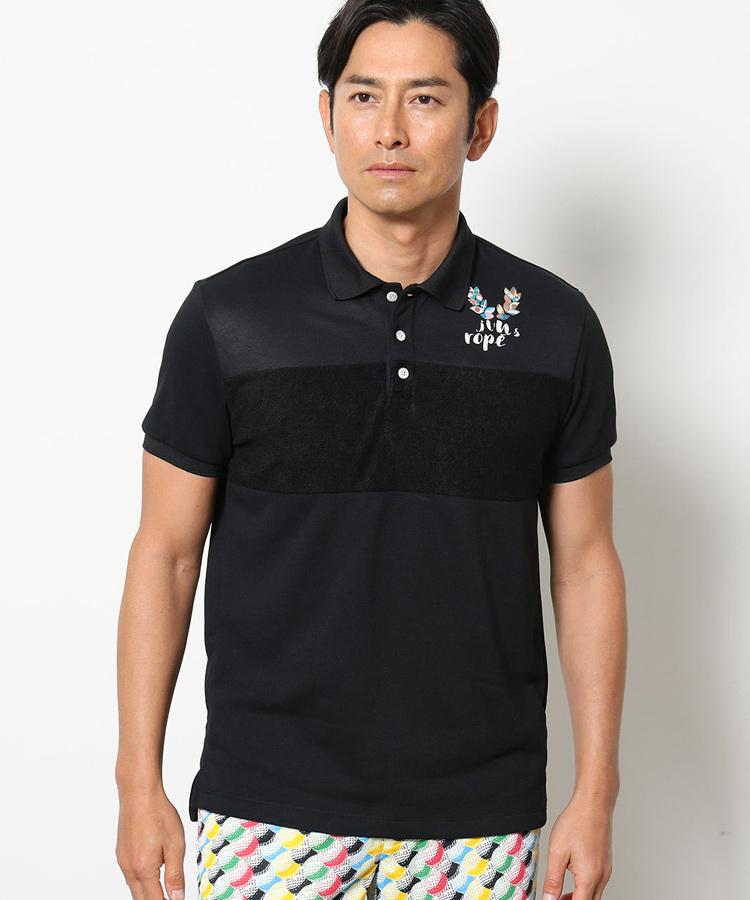 JR コットンライク裏毛切替ポロシャツ
