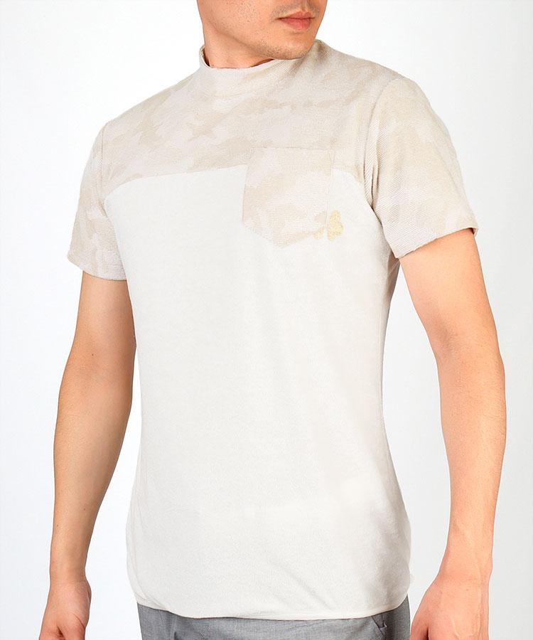 TV カモフラパイルモックシャツ