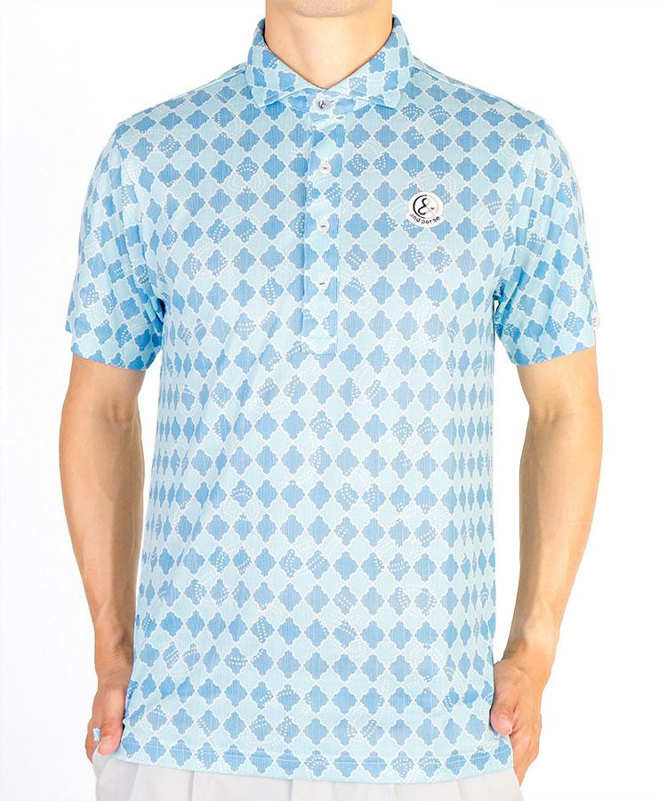 AP ダイヤ×ドットロープ柄ポロシャツ