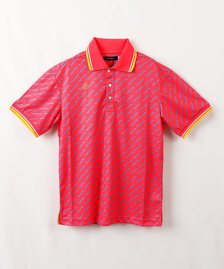 RR ロゴストライプ半袖ポロシャツ