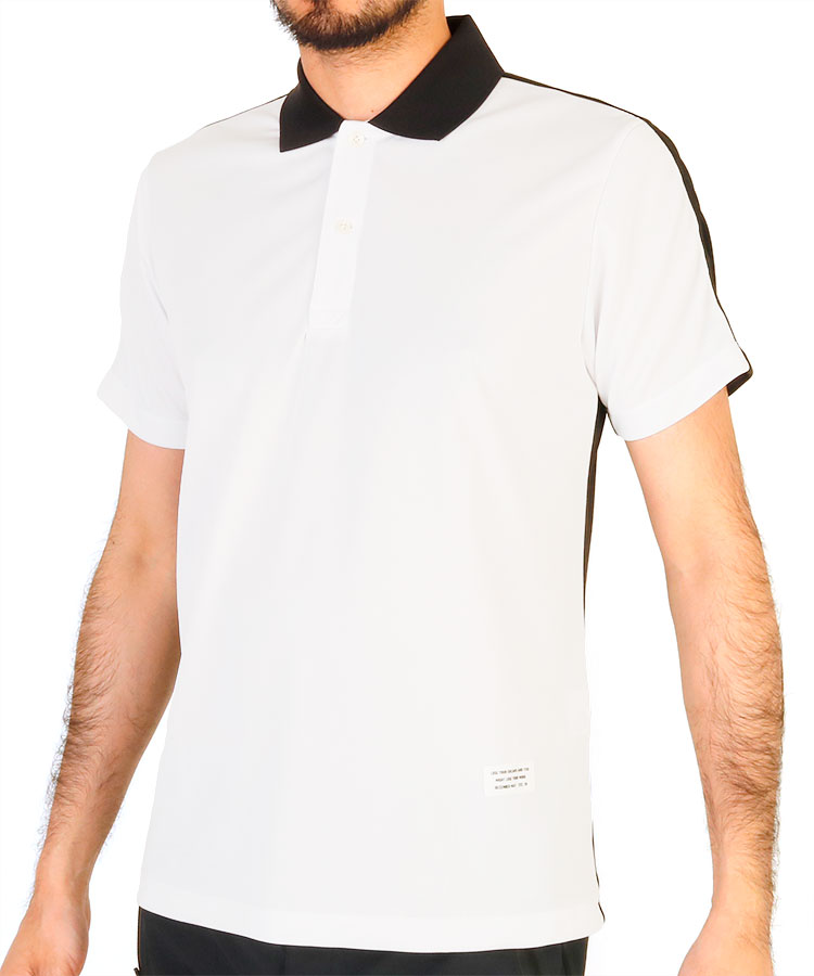 DM バックロゴラインテープ◆半袖ポロシャツ