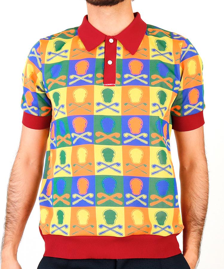 ML パネルスカル半袖ポロシャツ
