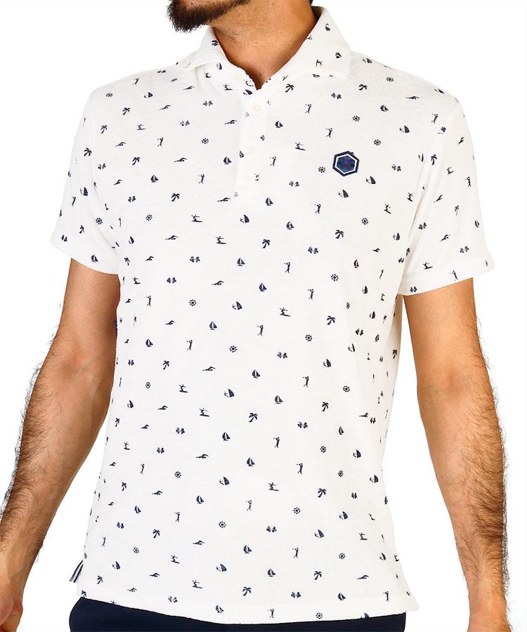 TV ピクトグラムシャツ半袖ポロシャツ