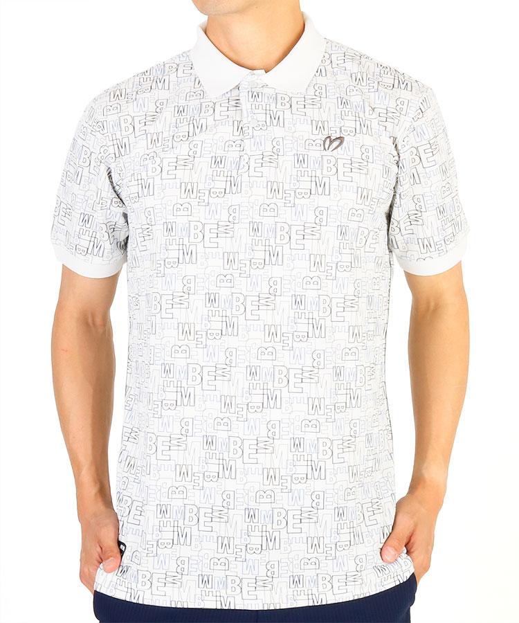 MB MBEブロックプリント半袖ポロシャツ