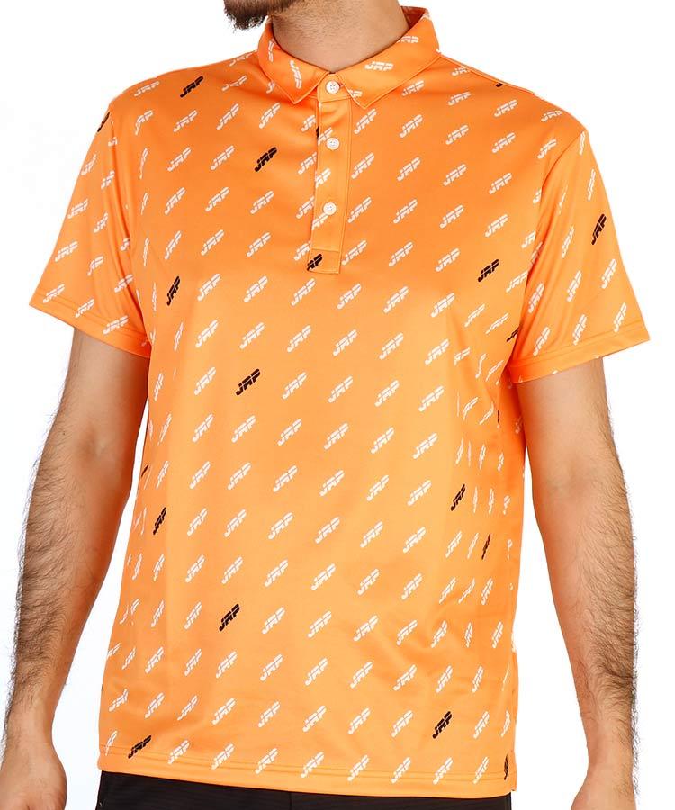 JR モノグラム柄◆半袖ポロシャツ