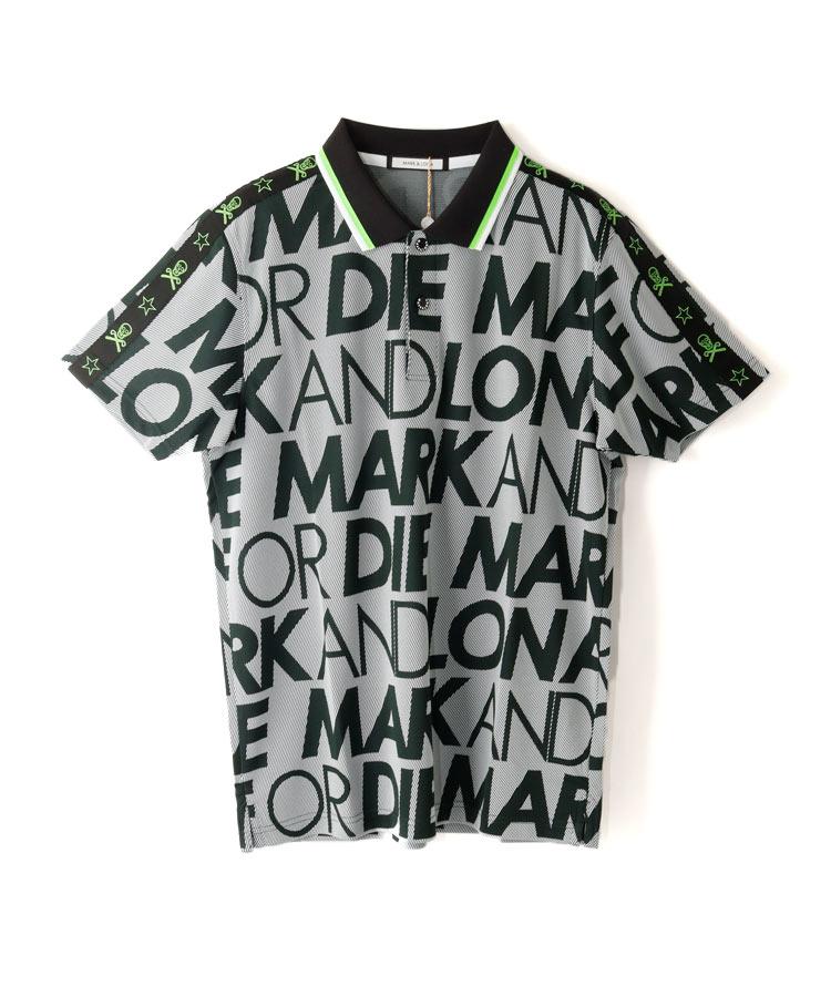 ML 袖ライン◆ロゴ総柄ポロシャツ