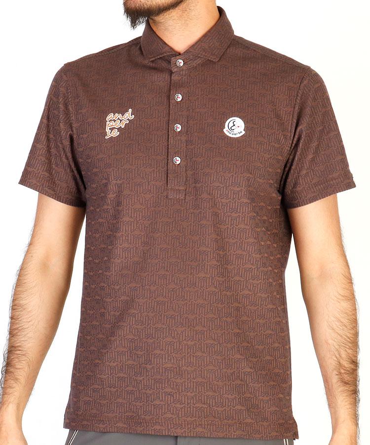 AP ロゴワッペン◆ハーフボタンシャツ
