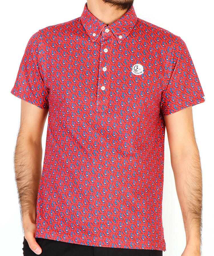 AP 「&」ロゴ柄半袖ポロシャツ
