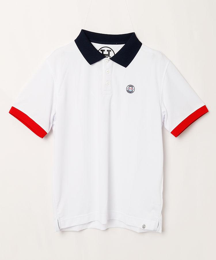 HO WAVE'N刺繍◆半袖ポロシャツ