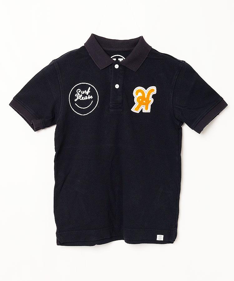 HO 「H」ワッペン◆半袖ポロシャツ