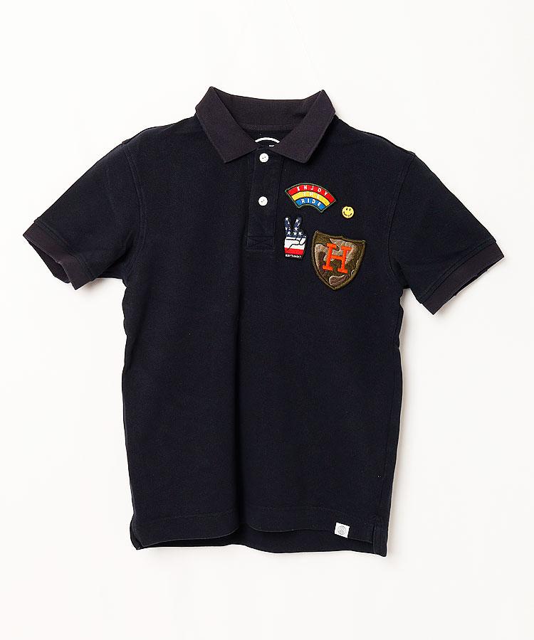 HO ヘビーウェイト◆Backプリント半袖ポロシャツ
