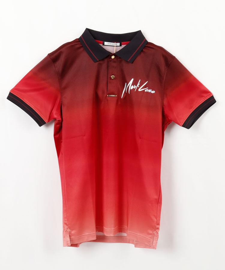 ML グラデーション&オーロラプリントポロシャツ