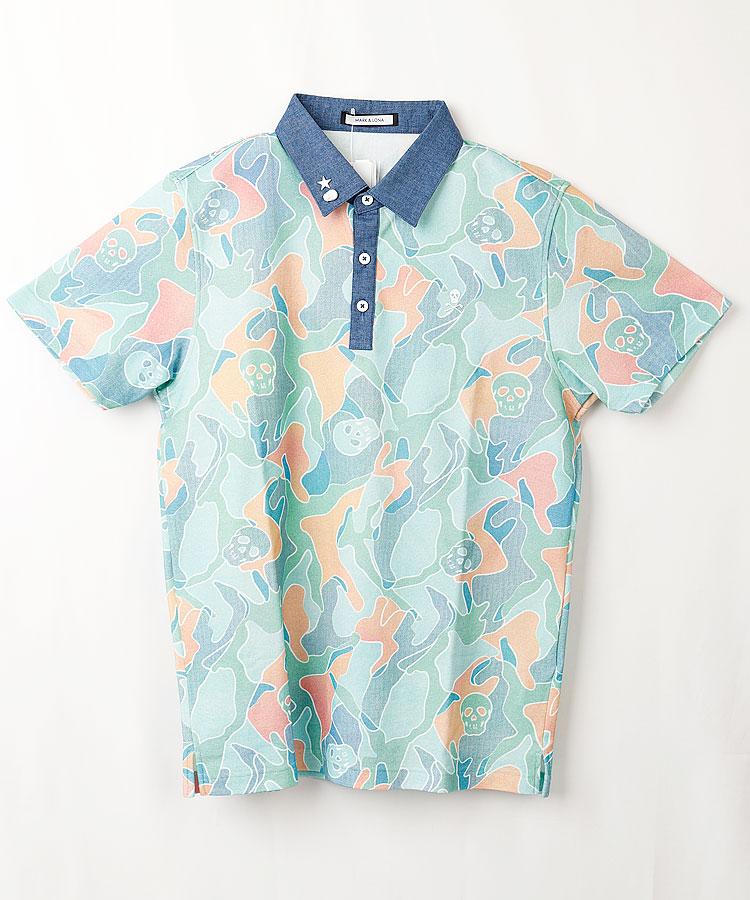 ML スカルカモフラ◆ポロシャツ
