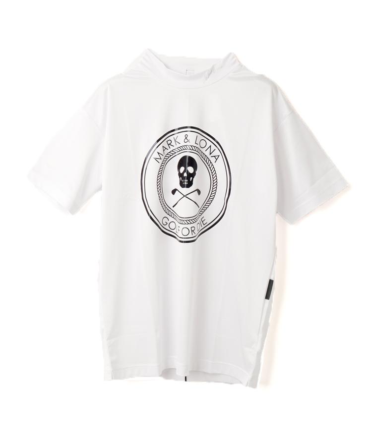 ML ビッグロゴ◆半袖モックネック