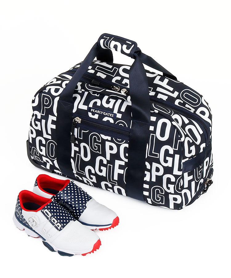 PG ロゴ総柄◆キャリー型ロッカーバッグ