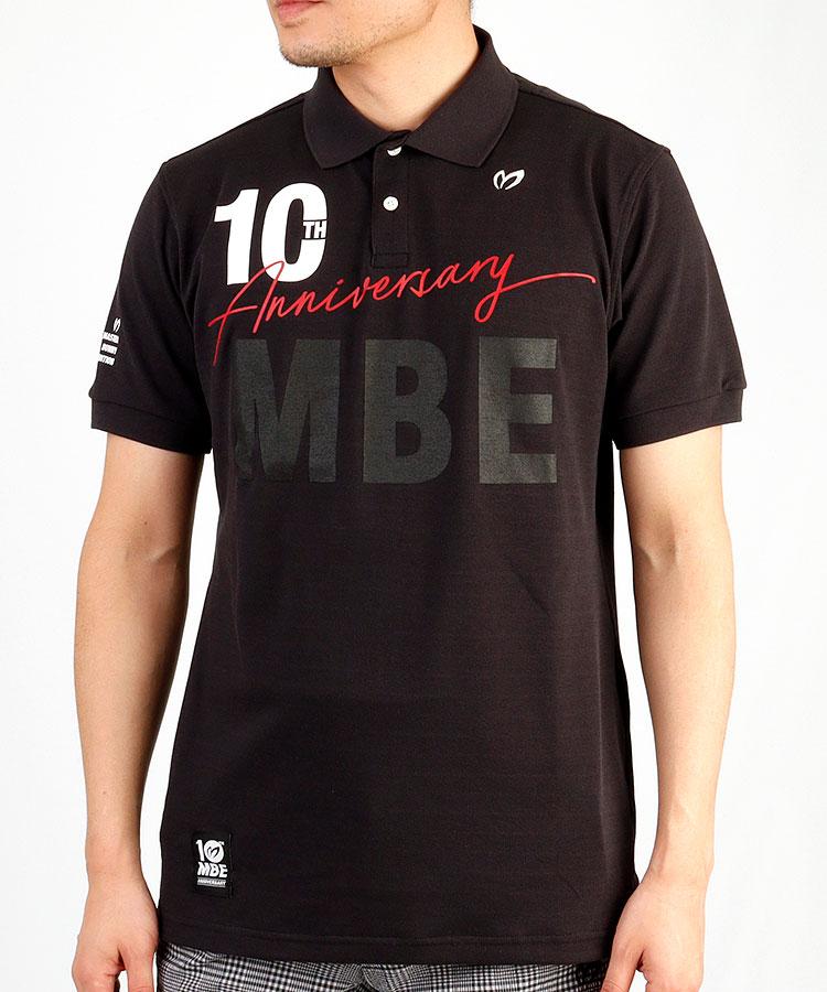 MB MBE10THロゴ◆半袖ポロシャツ