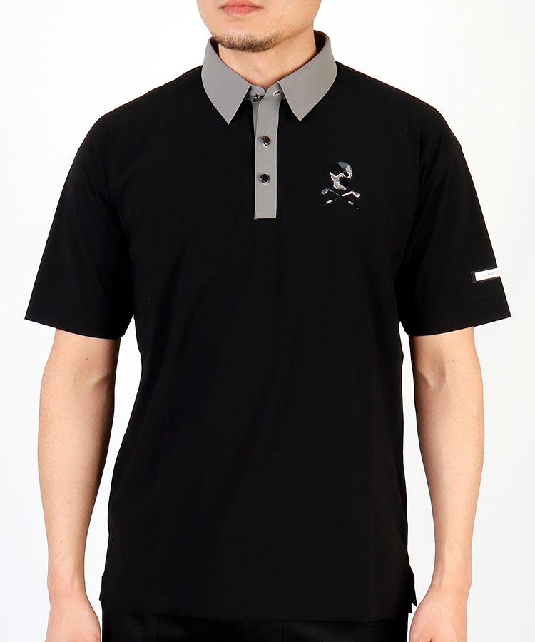 ML 【HIGUMA別注】クレリック調◆半袖ポロシャツ