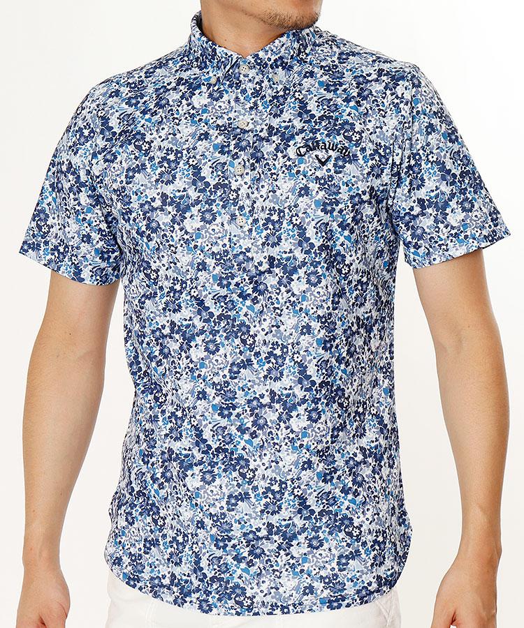 CA 高機能◆Flower半袖ポロシャツ