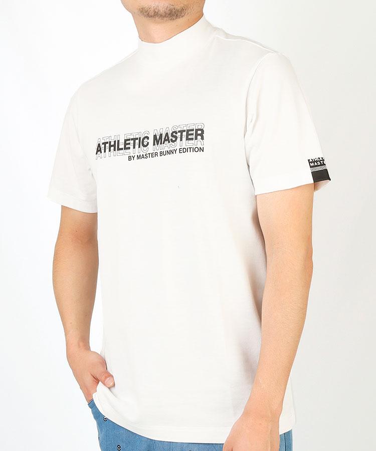 MB UVカット◆ロゴプリント半袖モックネックカットソー