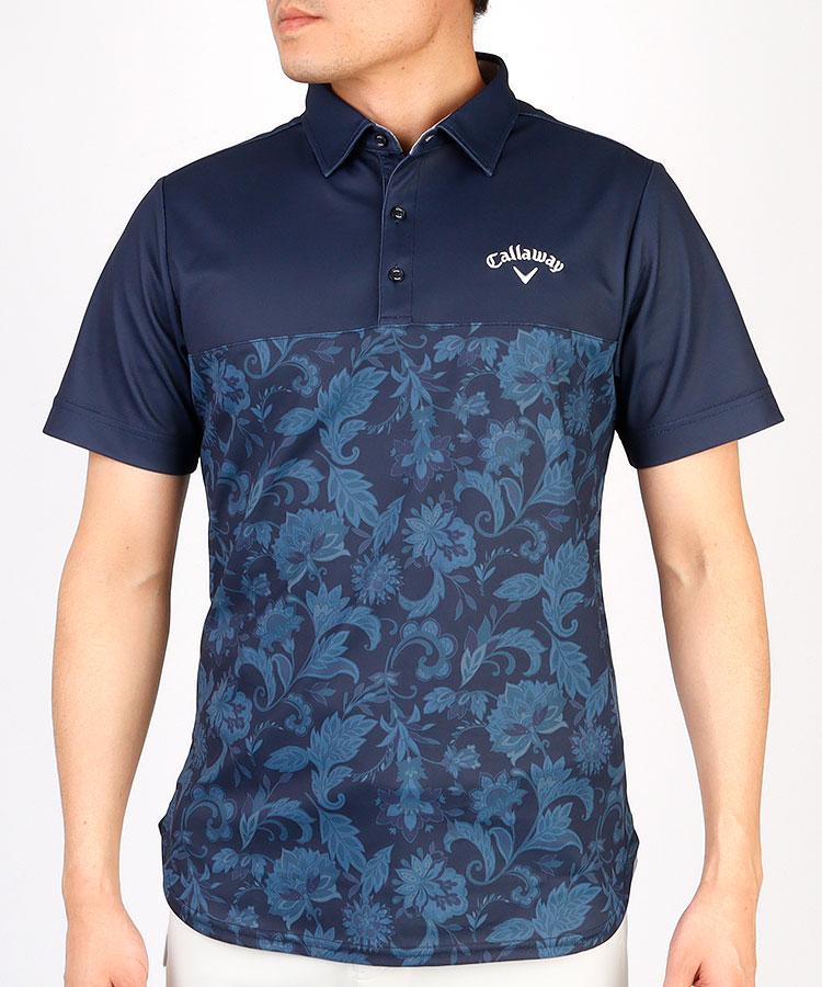 CA ペイズリー柄◆半袖ポロシャツ