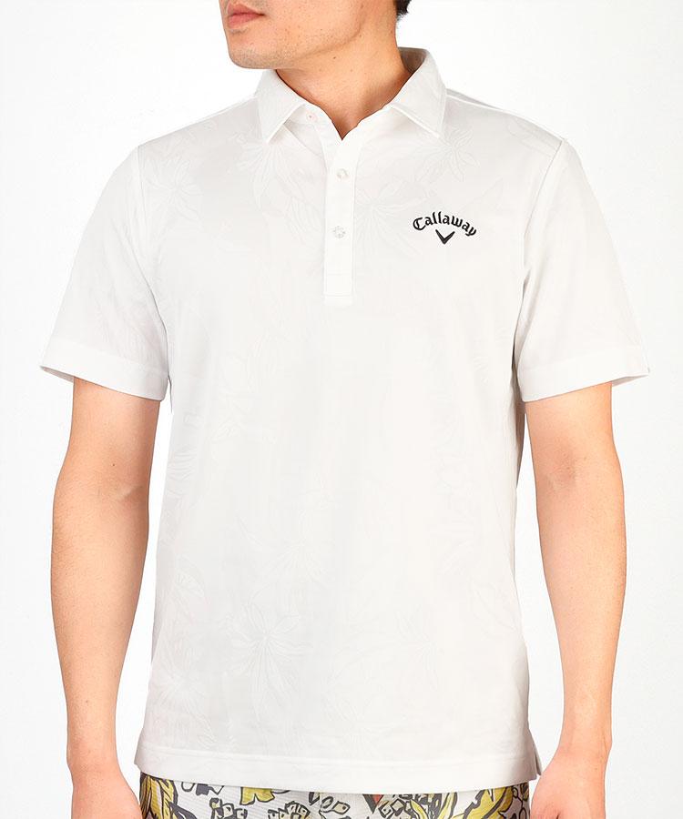 CA 高機能◆ハイビスカス半袖ポロシャツ