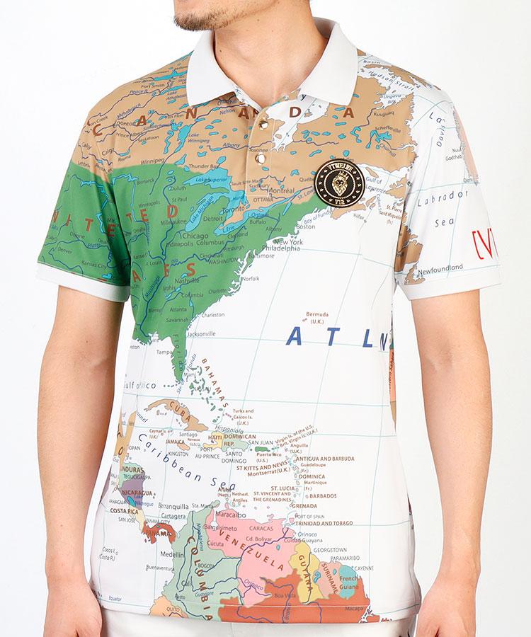 VI WORLDMAP半袖ポロシャツ