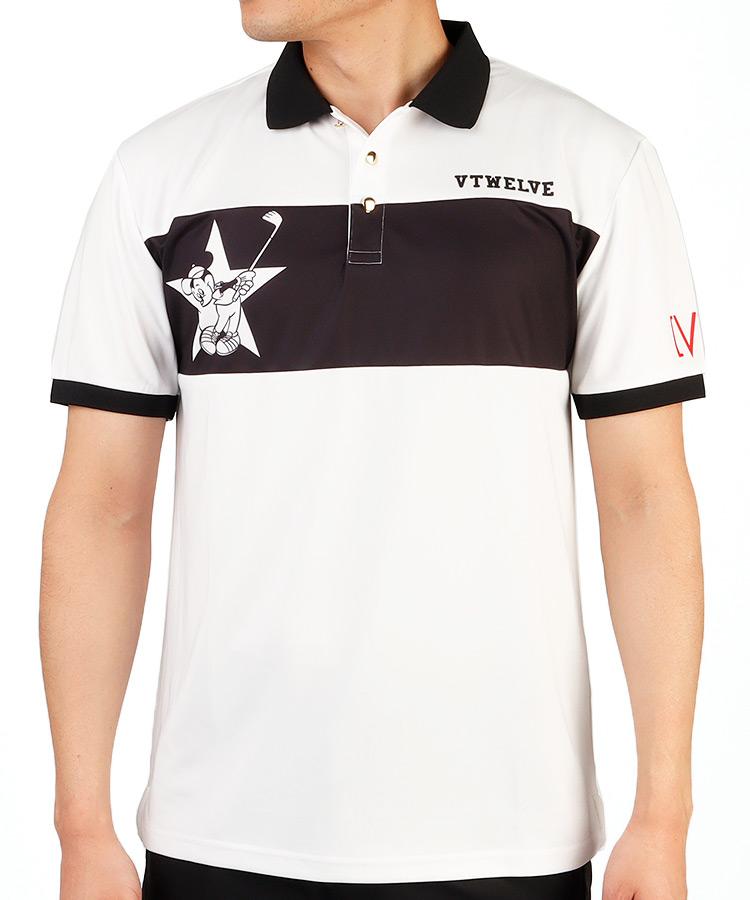 VI ディズニーコレクション◆バイカラー半袖ポロシャツ