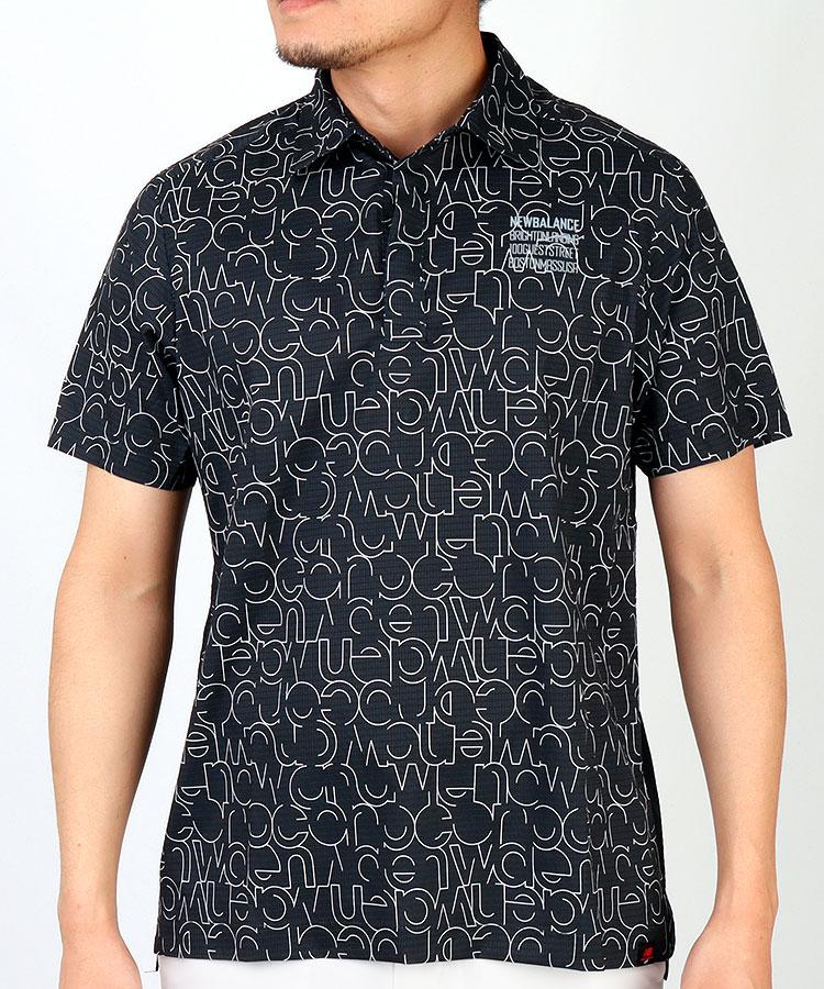 NB 軽量◆微メッシュBackロゴ半袖シャツ