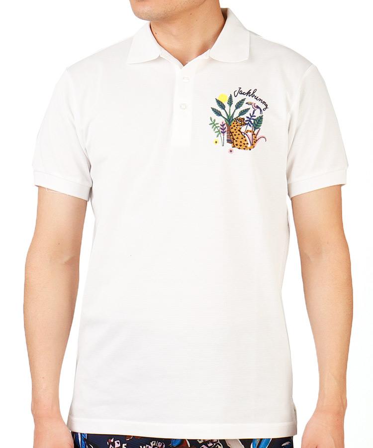 JB ジャングル刺繍◆UV半袖ポロシャツ