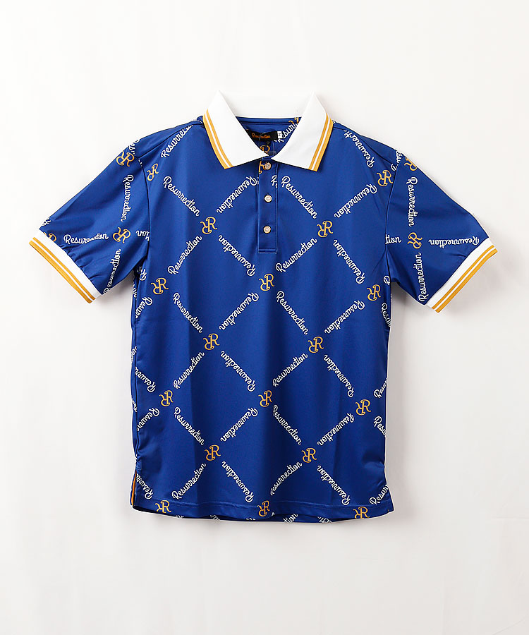 RR ダイヤモンドパターン◆半袖ポロシャツ