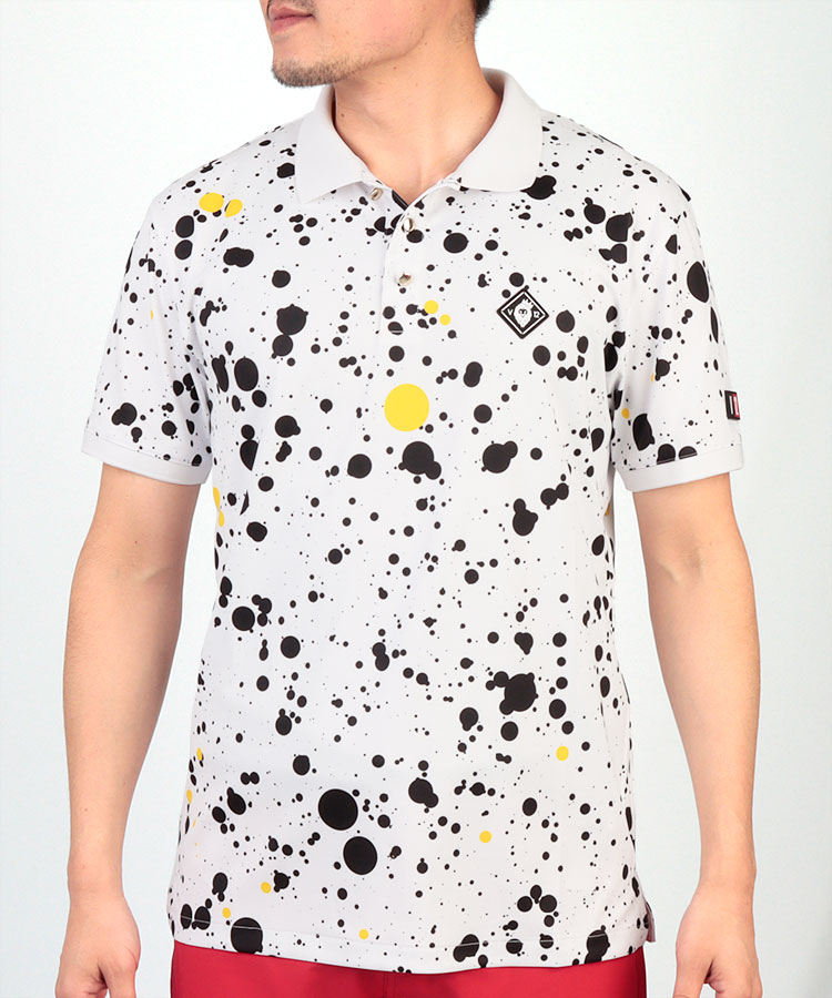 VI スプラッシュPrint◆半袖ポロシャツ